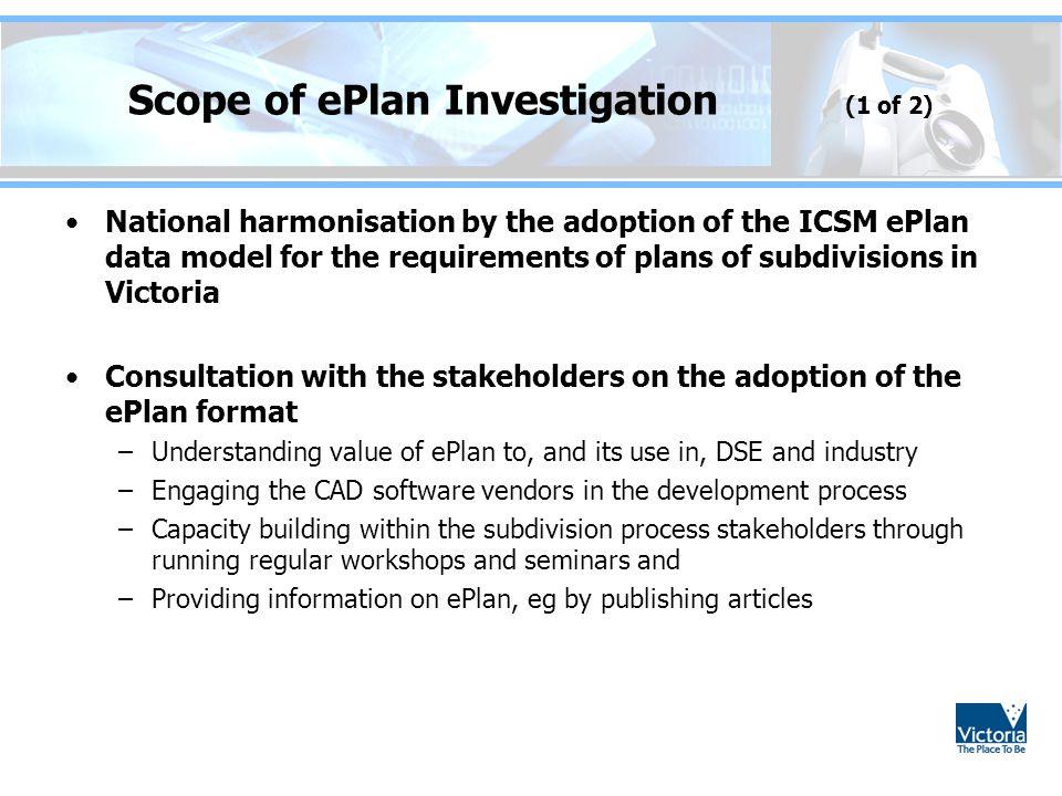 Scope of ePlan Investigation (1 of 2)