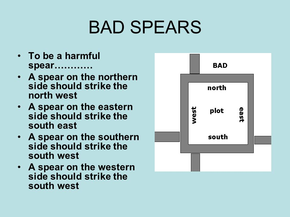 BAD SPEARS To be a harmful spear…………