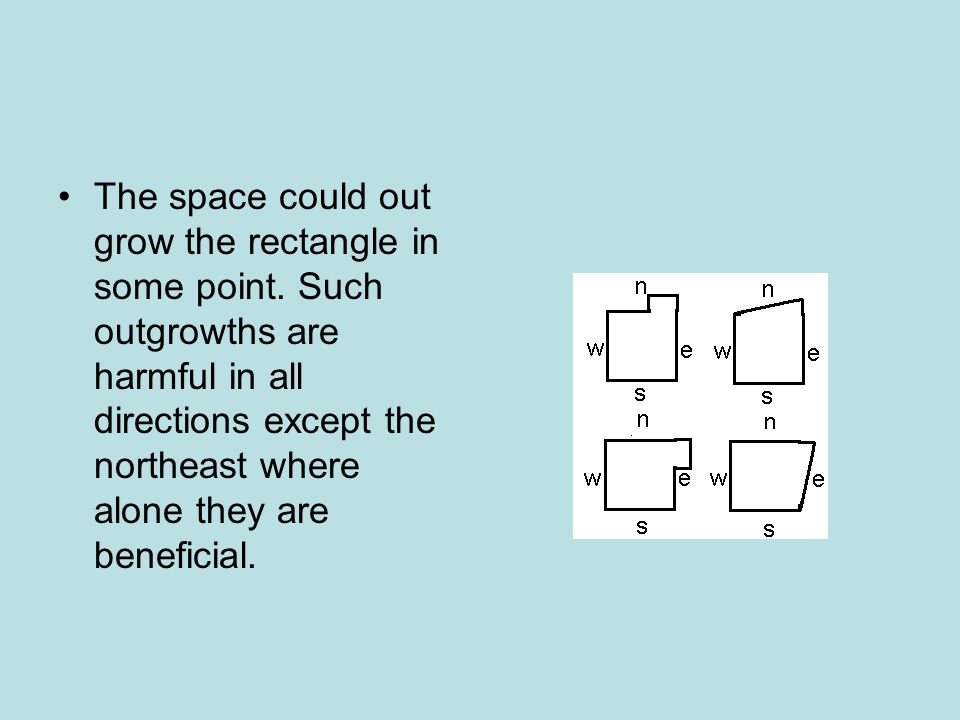 The space could out grow the rectangle in some point