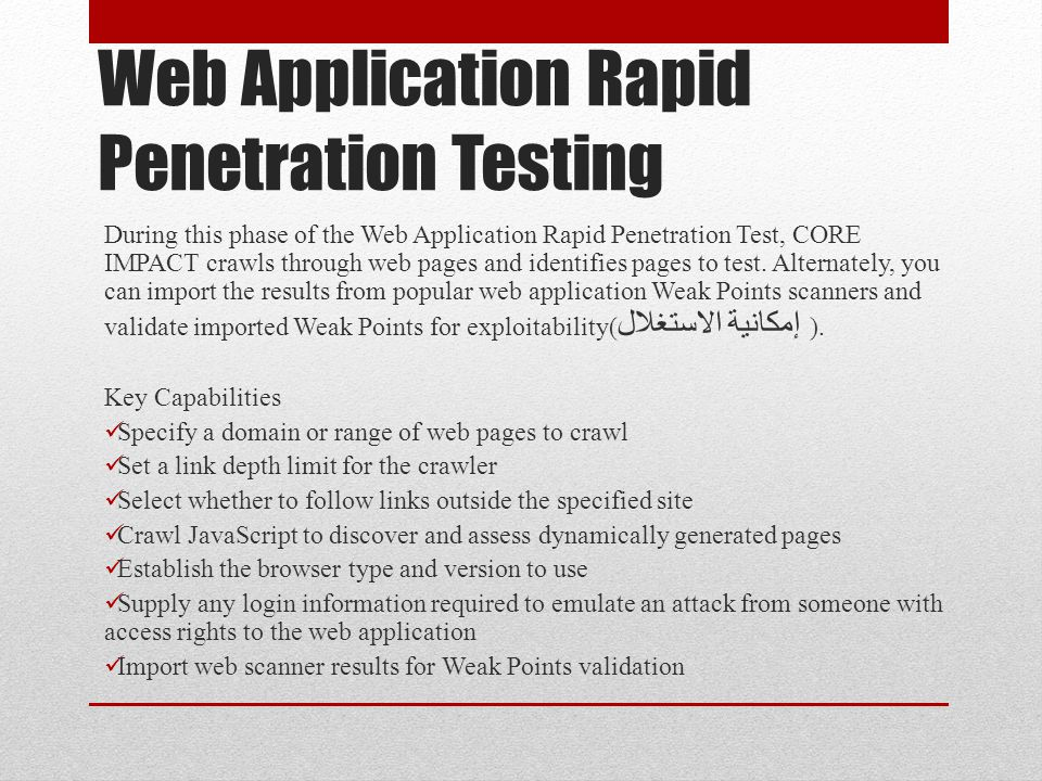 Web Application Rapid Penetration Testing