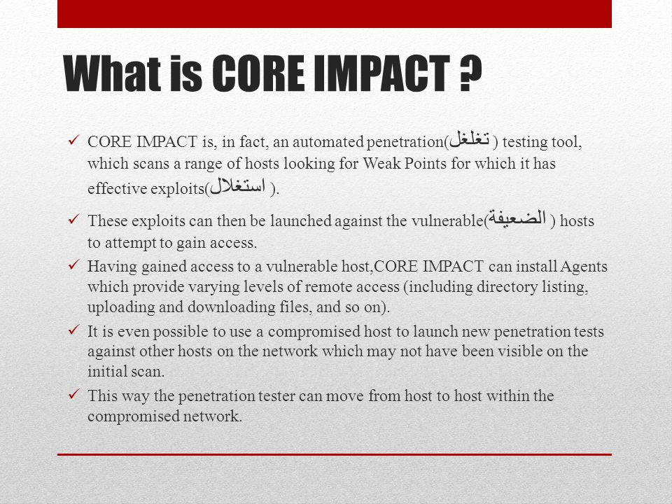 What is CORE IMPACT