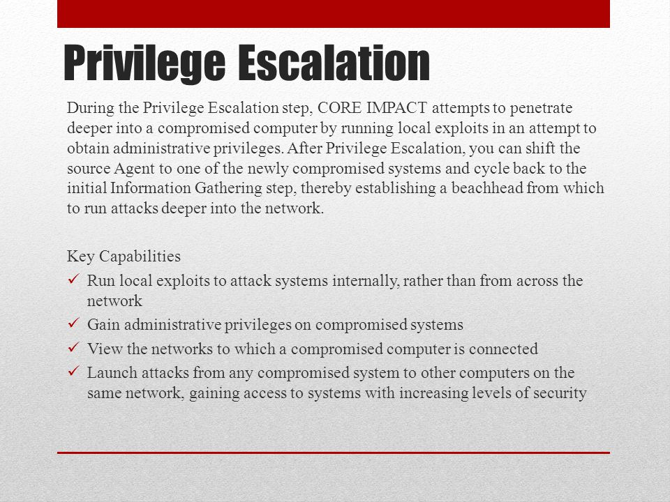 Privilege Escalation