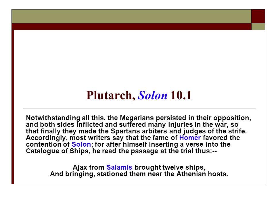 Plutarch, Solon 10.1