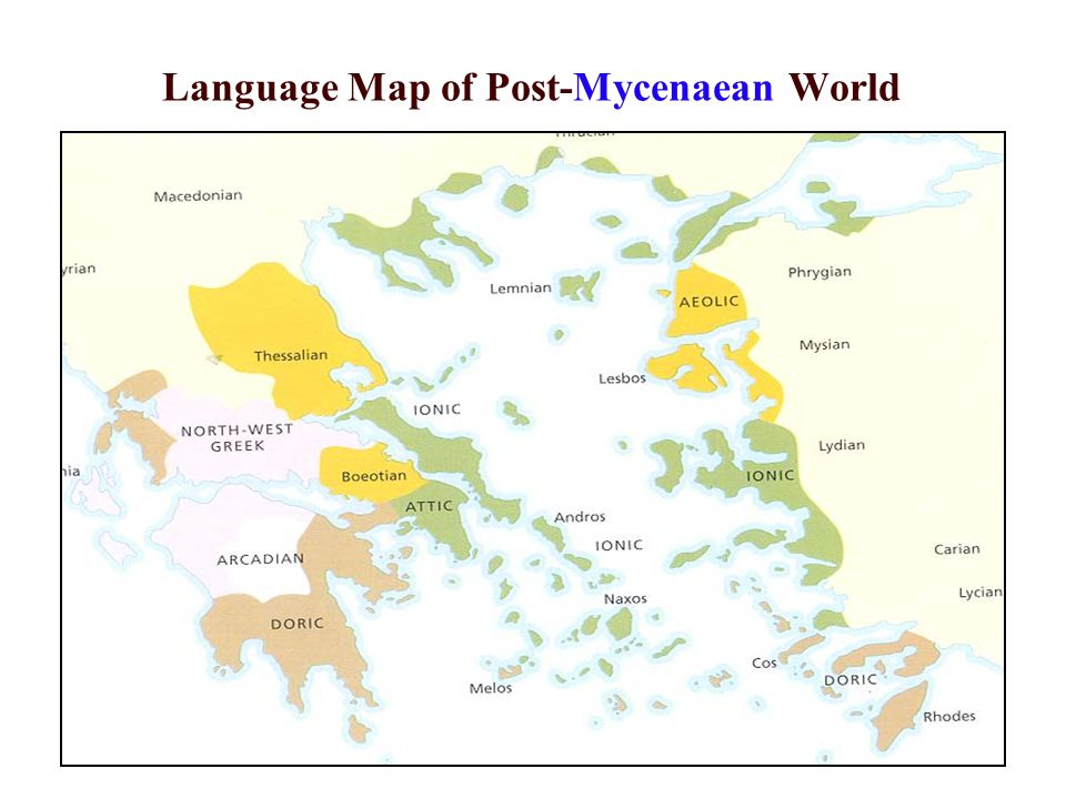 Language Map of Post-Mycenaean World