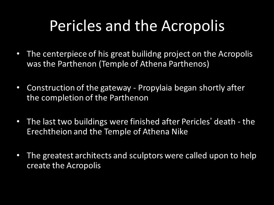 Pericles and the Acropolis