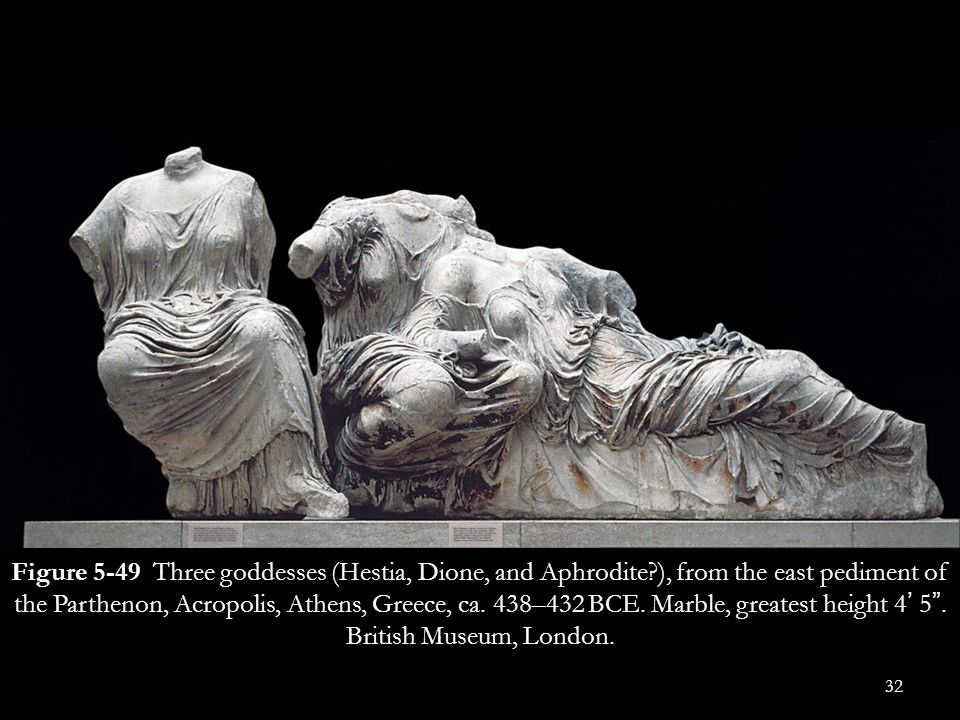 Figure 5-49 Three goddesses (Hestia, Dione, and Aphrodite