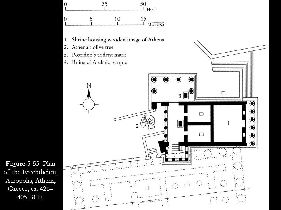 Figure 5-53 Plan of the Erechtheion, Acropolis, Athens, Greece, ca