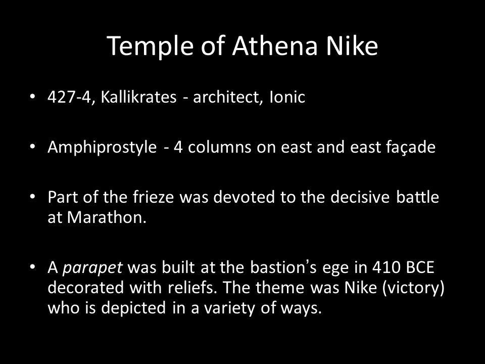 Temple of Athena Nike 427-4, Kallikrates - architect, Ionic