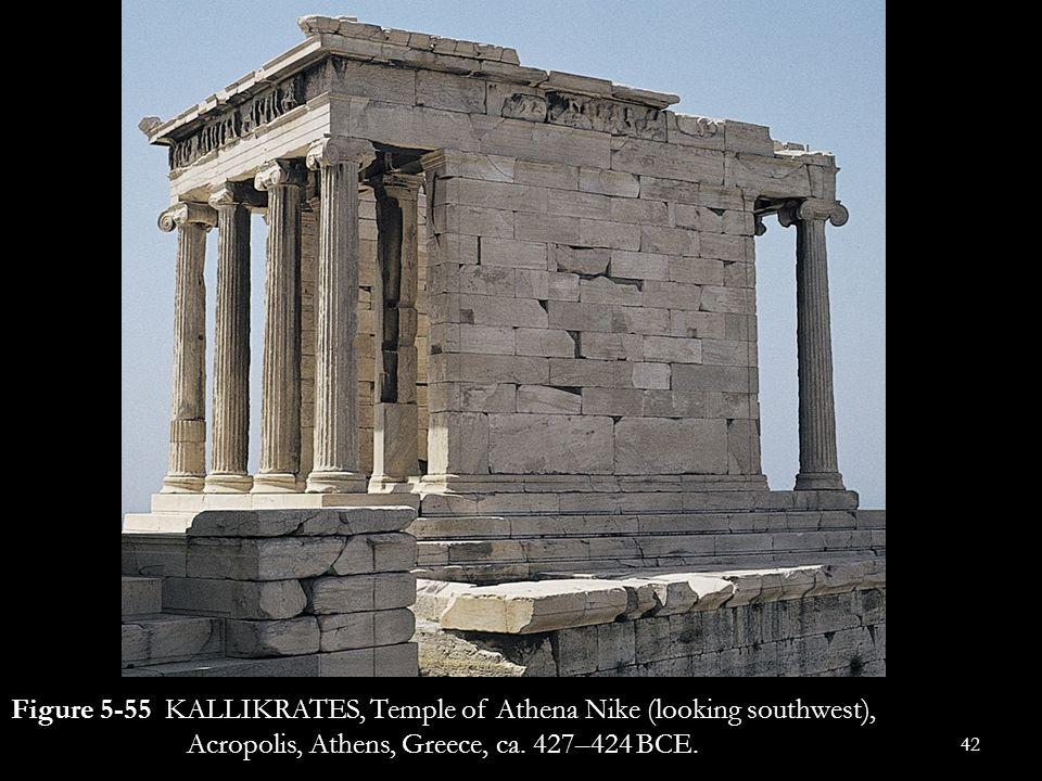 Figure 5-55 KALLIKRATES, Temple of Athena Nike (looking southwest), Acropolis, Athens, Greece, ca.