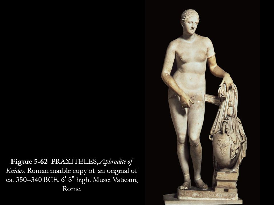 One legend stated that Aphrodite herself visited Knidos and asked Where did Praxites see me naked