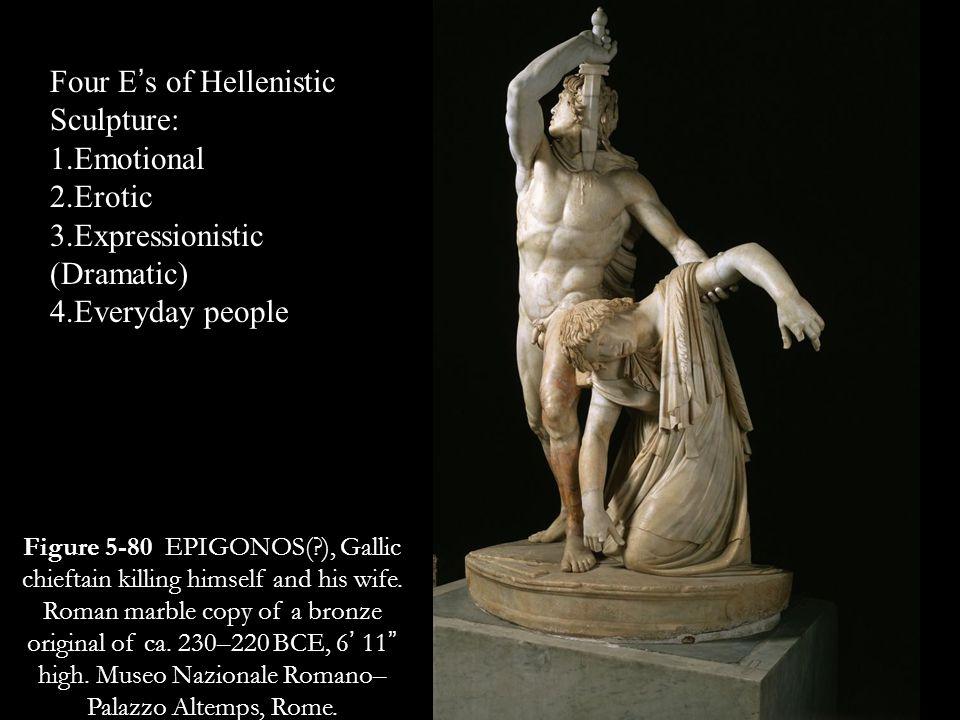 Four E's of Hellenistic Sculpture: Emotional Erotic
