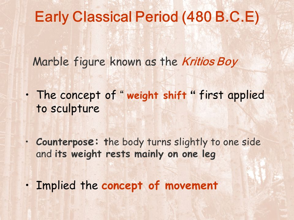 Early Classical Period (480 B.C.E)