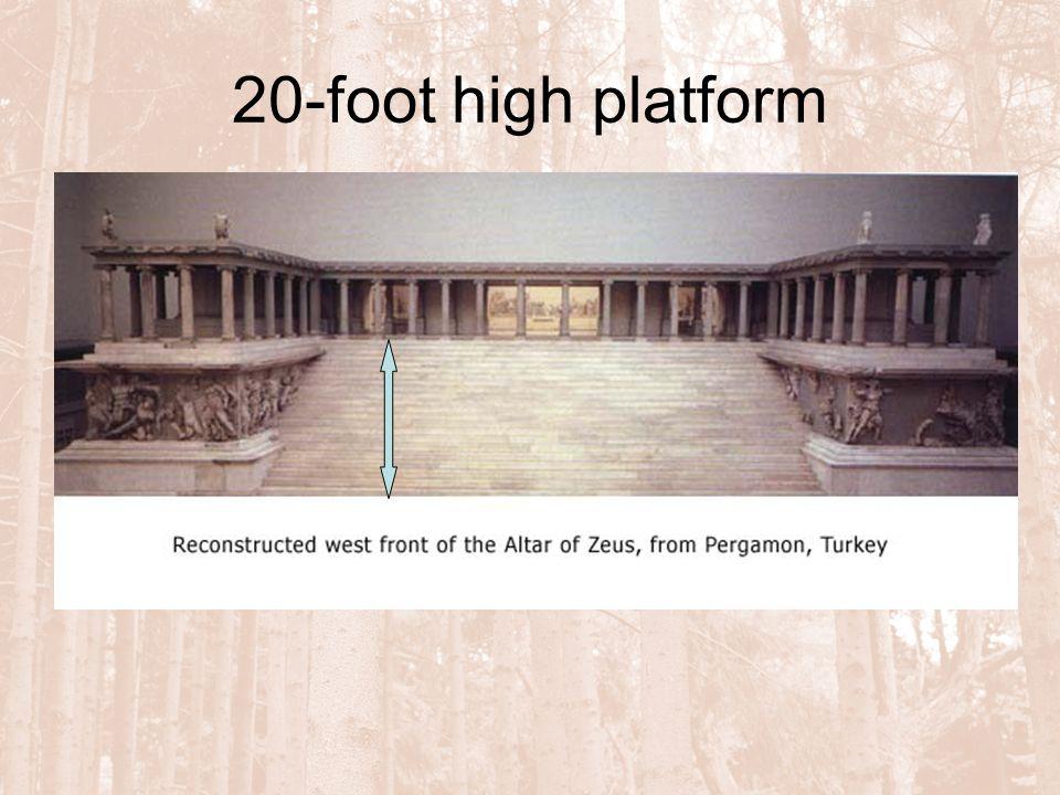 20-foot high platform