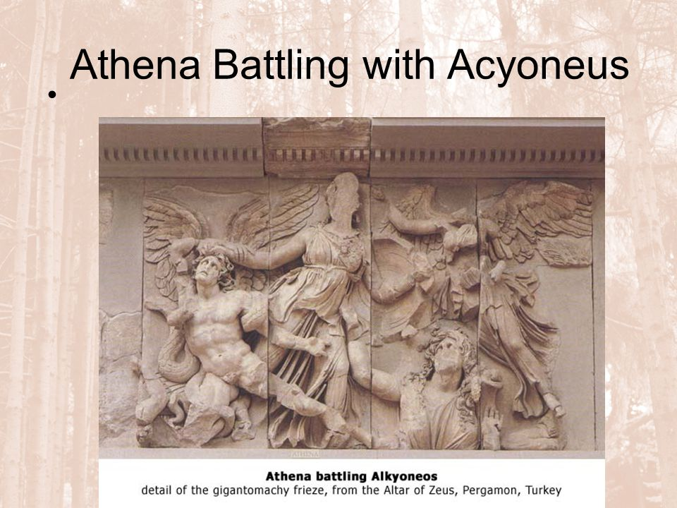 Athena Battling with Acyoneus