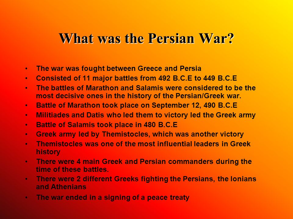 What was the Persian War