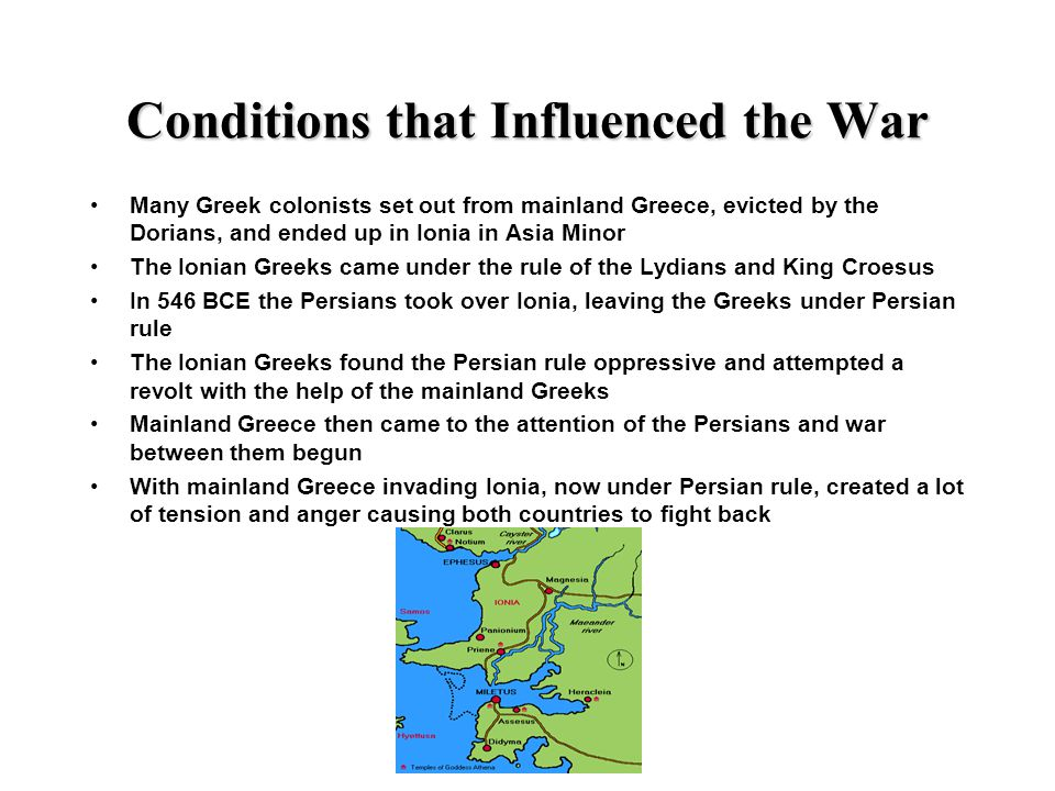 Conditions that Influenced the War