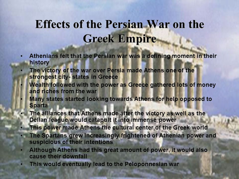 Effects of the Persian War on the Greek Empire