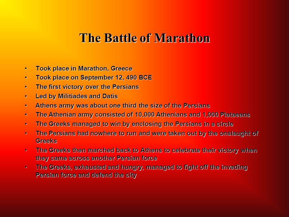 The Battle of Marathon Took place in Marathon, Greece