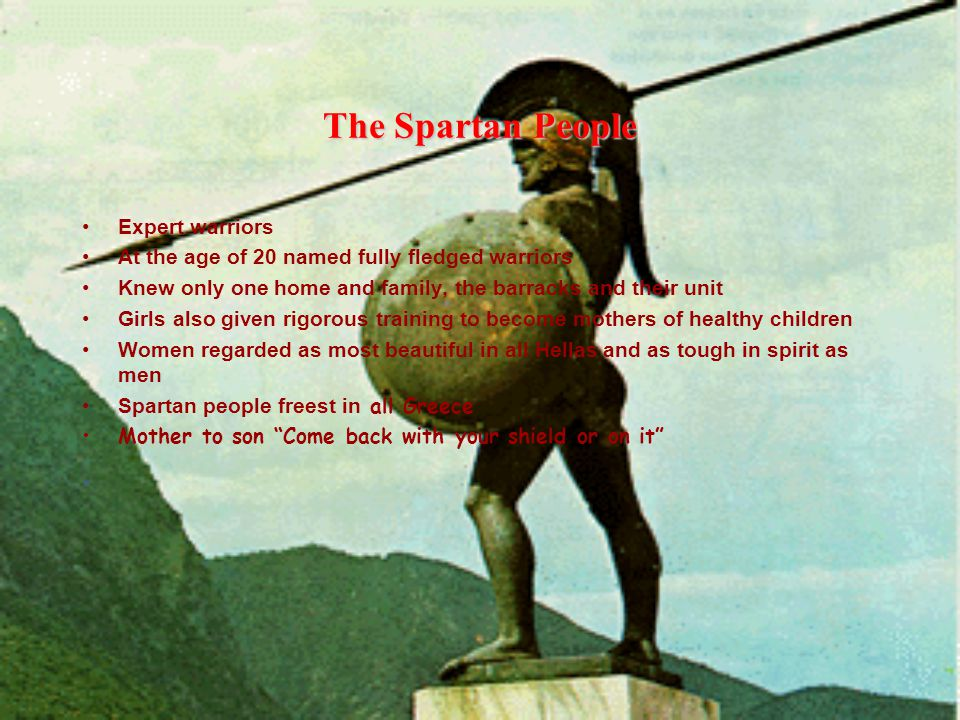The Spartan People Expert warriors