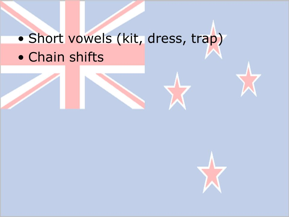 Short vowels (kit, dress, trap)
