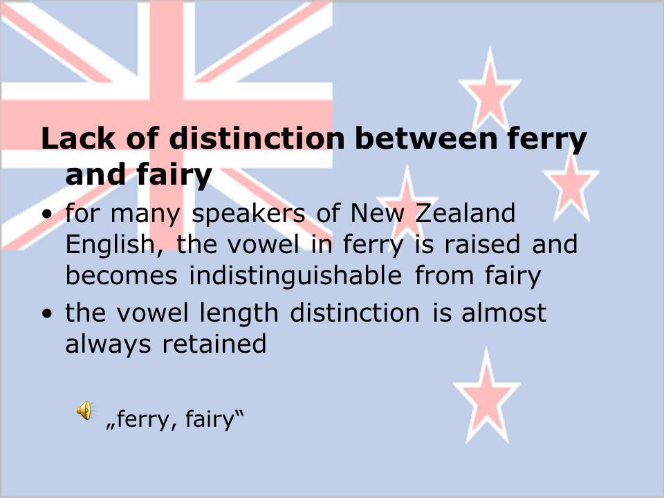 Lack of distinction between ferry and fairy
