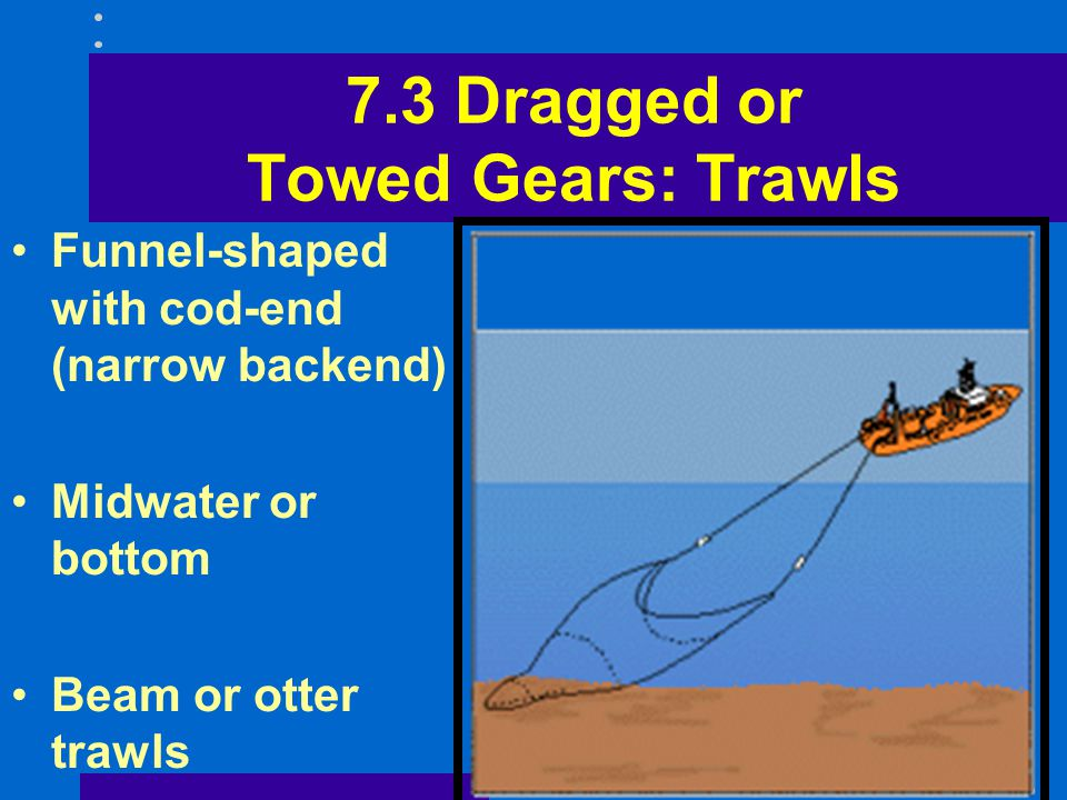 7.3 Dragged or Towed Gears: Trawls