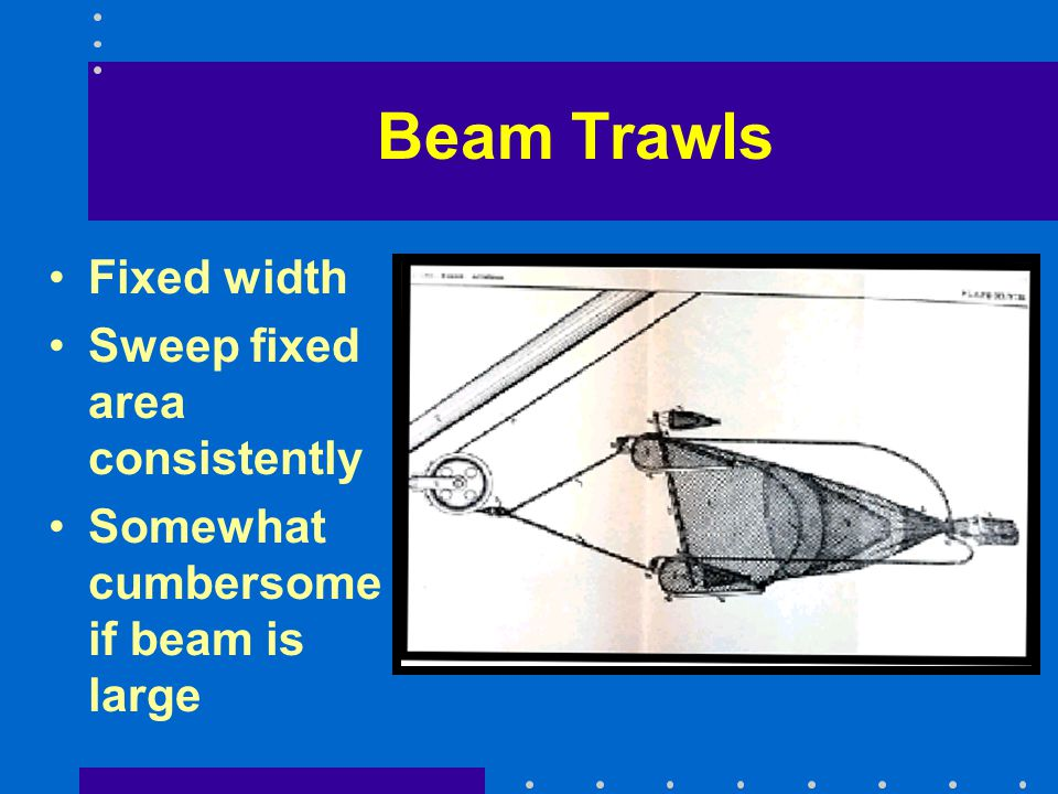Beam Trawls Fixed width Sweep fixed area consistently