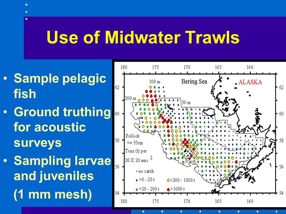 Use of Midwater Trawls Sample pelagic fish
