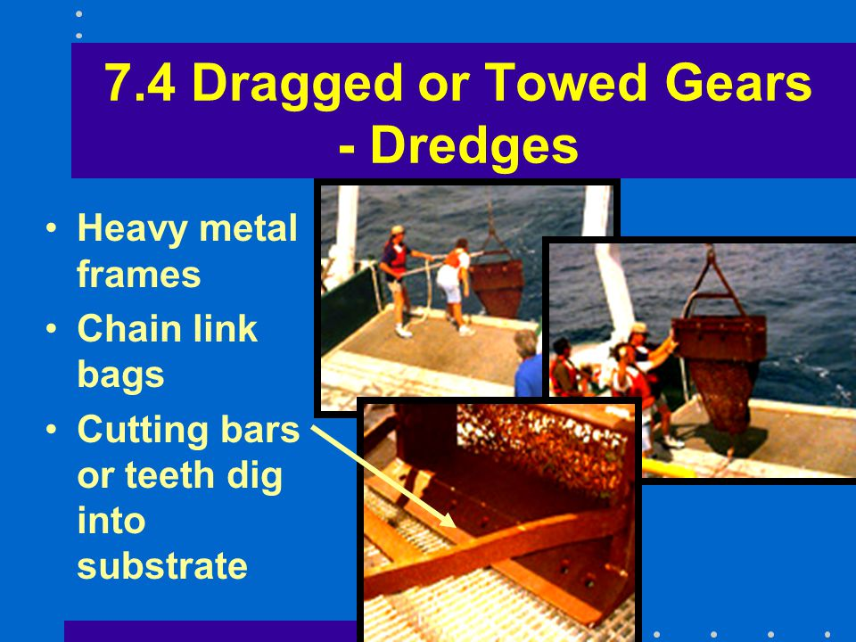 7.4 Dragged or Towed Gears - Dredges