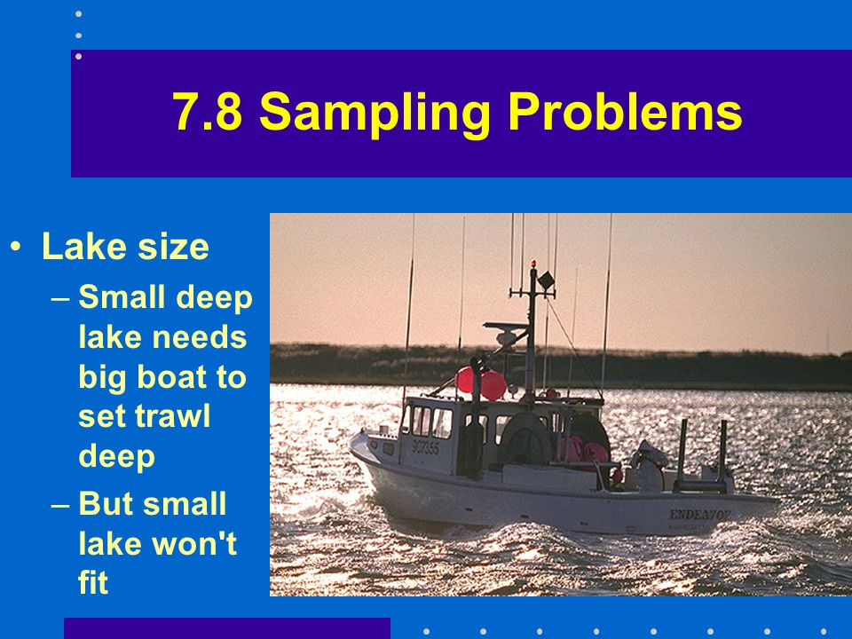 7.8 Sampling Problems Lake size