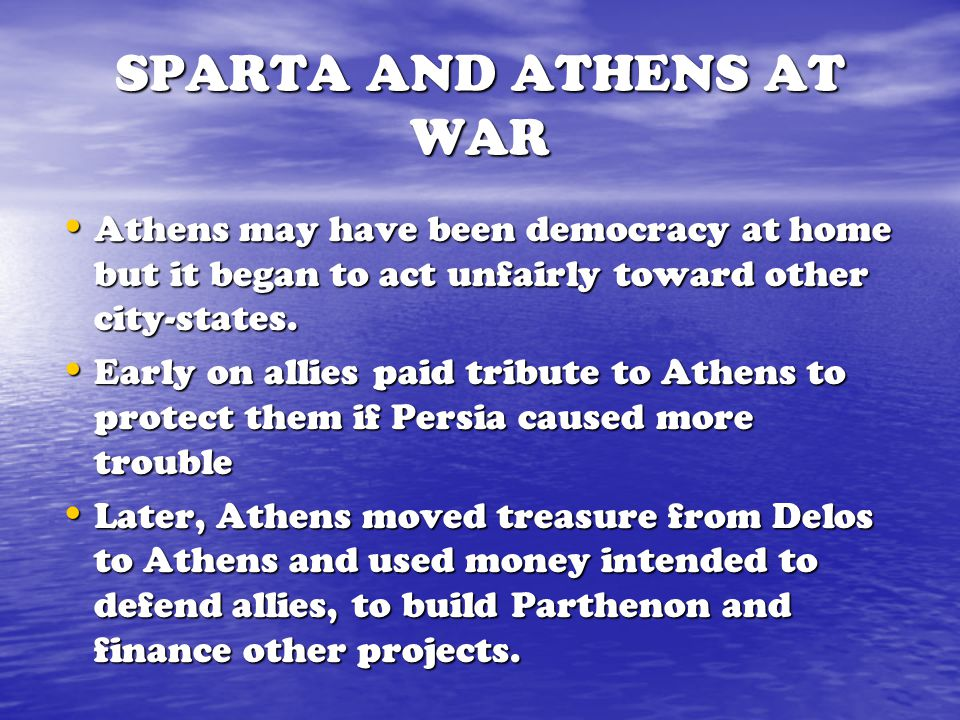 SPARTA AND ATHENS AT WAR