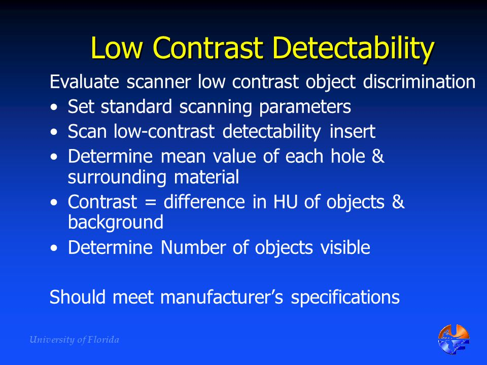 Low Contrast Detectability