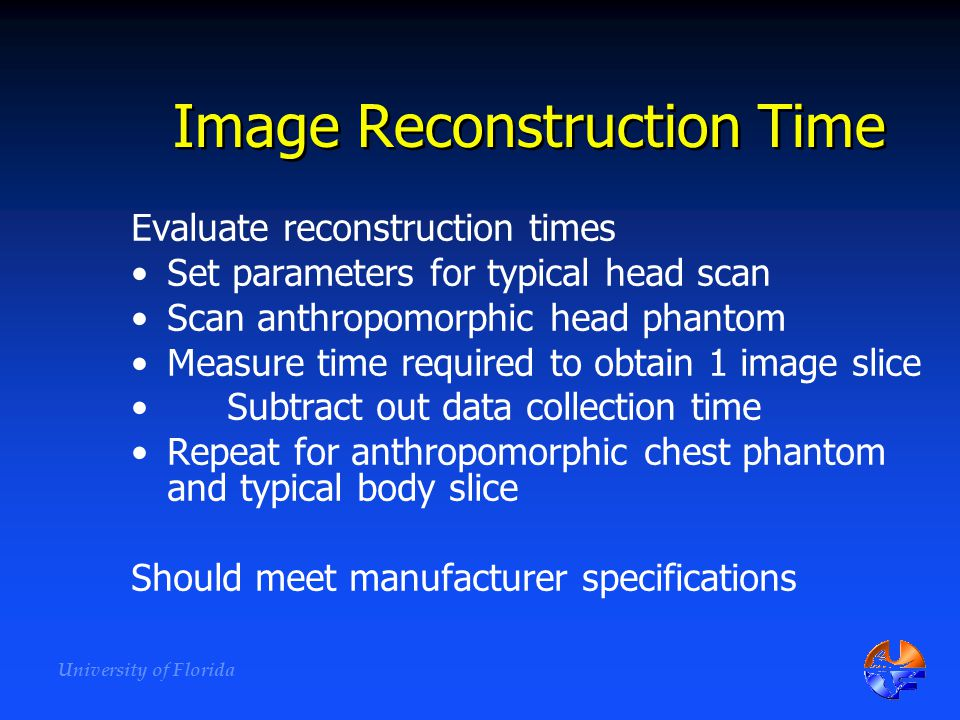 Image Reconstruction Time
