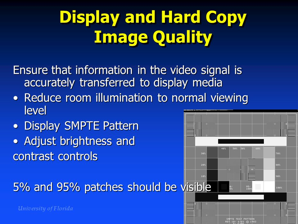 Display and Hard Copy Image Quality
