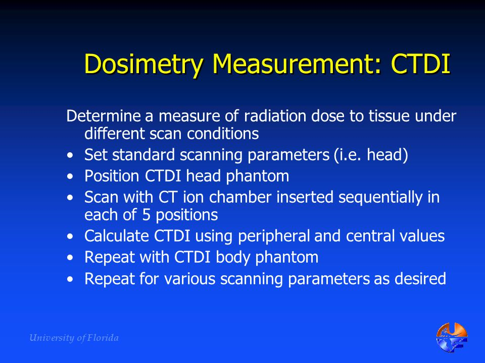 Dosimetry Measurement: CTDI