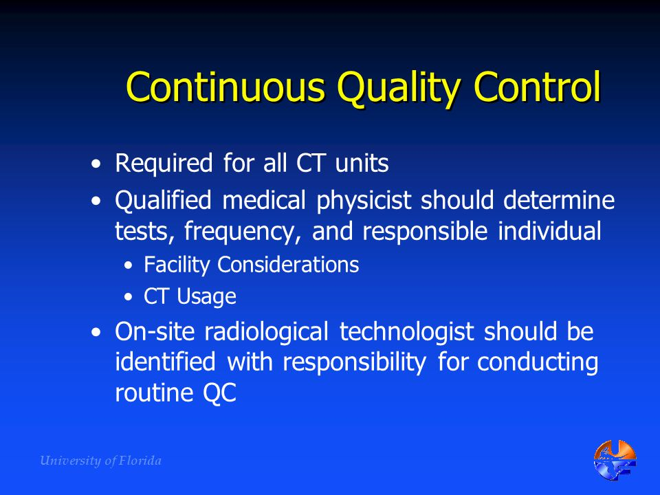 Continuous Quality Control