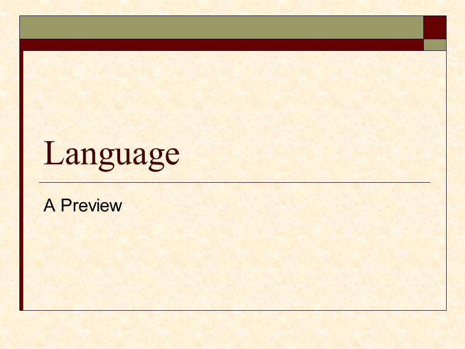 Language A Preview
