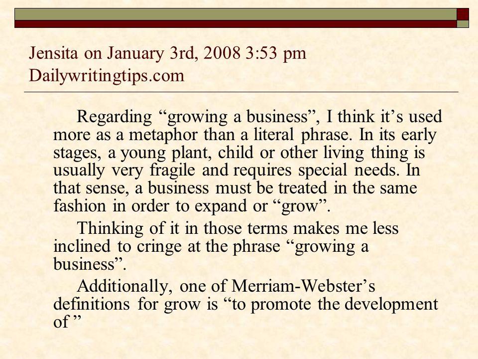 Jensita on January 3rd, 2008 3:53 pm Dailywritingtips.com