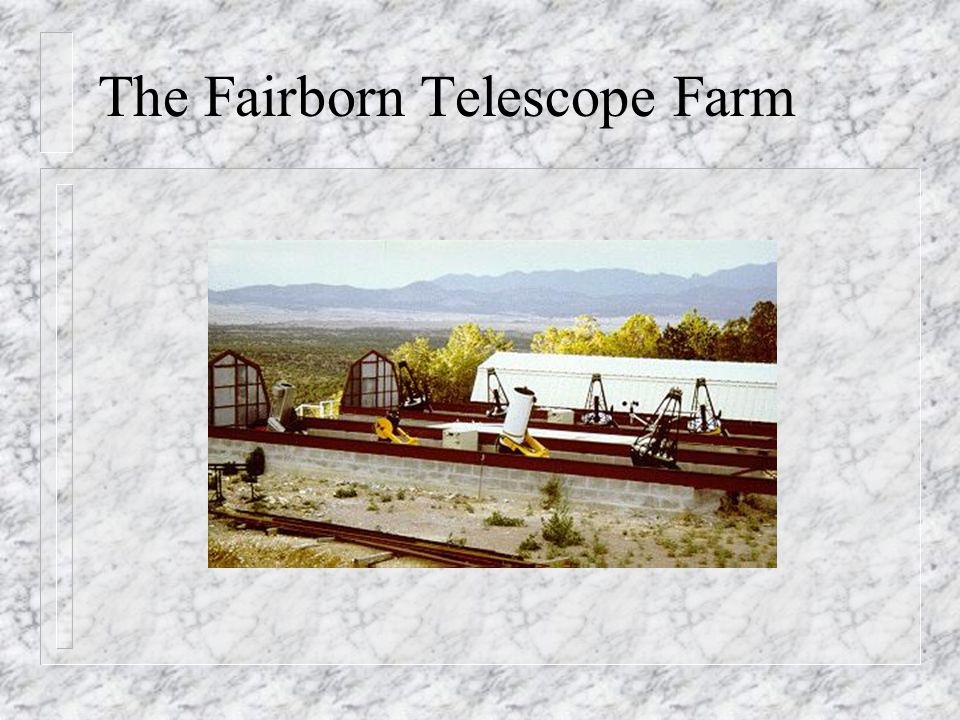 The Fairborn Telescope Farm