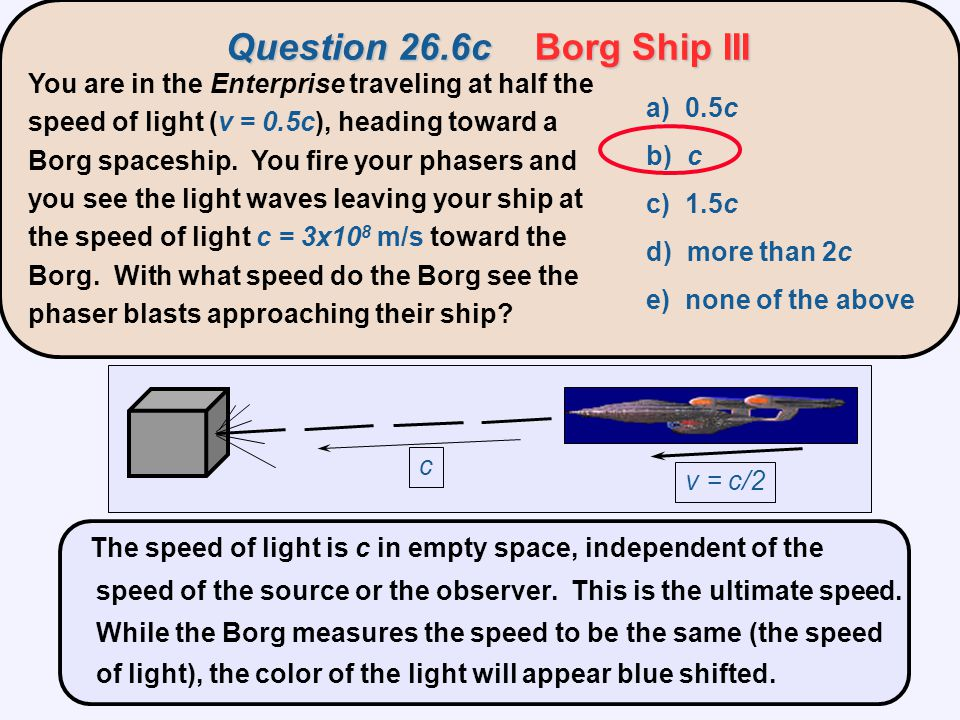 Question 26.6c Borg Ship III