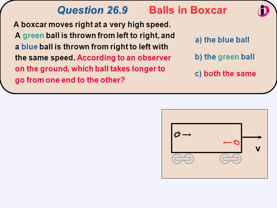 Question 26.9 Balls in Boxcar