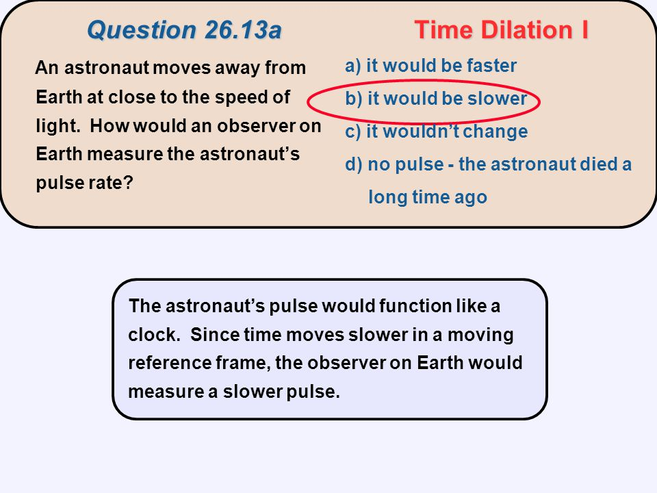 Question 26.13a Time Dilation I