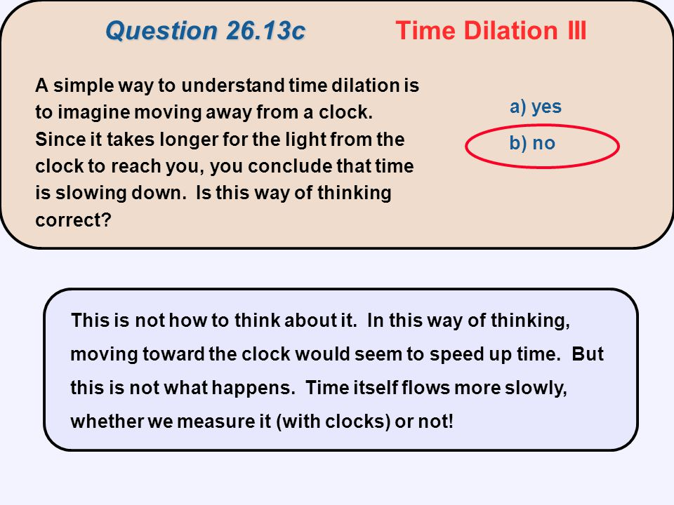 Question 26.13c Time Dilation III