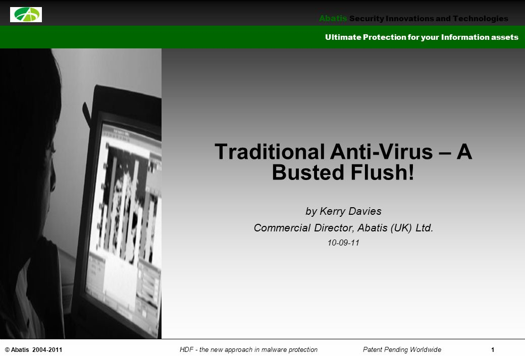 Traditional Anti-Virus – A Busted Flush!