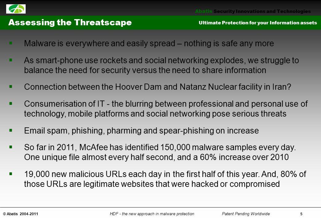 Assessing the Threatscape