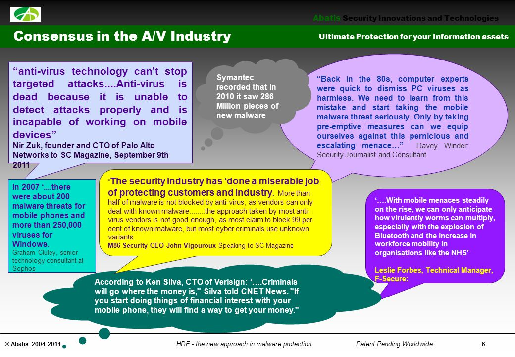 Consensus in the A/V Industry
