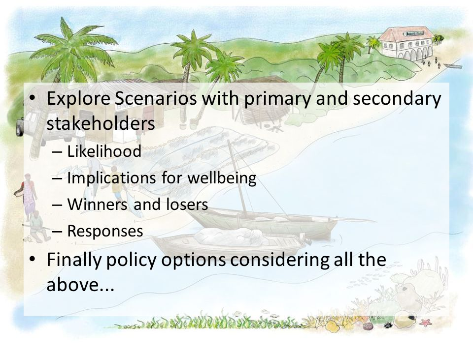 Explore Scenarios with primary and secondary stakeholders