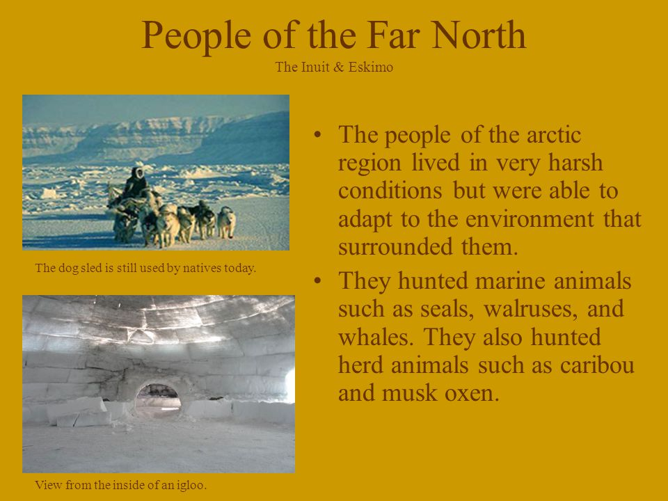 People of the Far North The Inuit & Eskimo