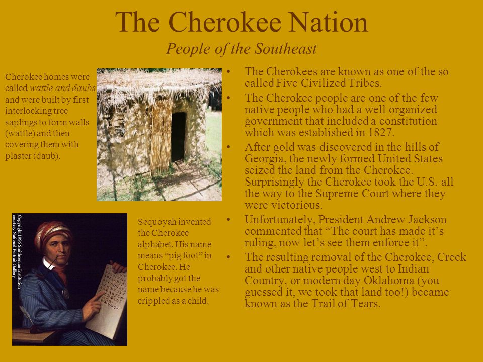The Cherokee Nation People of the Southeast