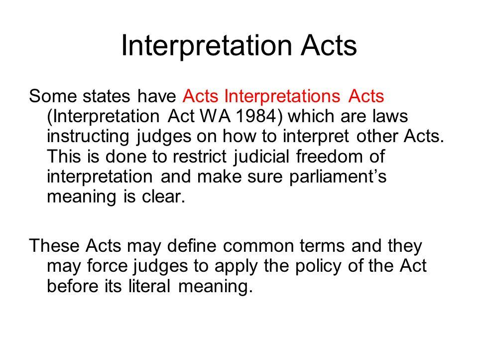 Interpretation Acts